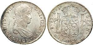 8 Real 玻利維亞 / 拉普拉塔总督辖区 (1776 - 1814) 銀 费尔南多七世 (1784 - 1833)