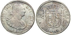 8 Real 玻利維亞 / 拉普拉塔总督辖区 (1776 - 1814) 銀 卡洛斯四世 (1748-1819)