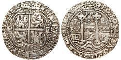 8 Real 玻利維亞 / 秘鲁总督辖区 (1542 - 1824) 銀 Philip IV of Spain (1605 -1665)