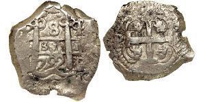 8 Real 玻利維亞 / 秘鲁总督辖区 (1542 - 1824) 銀 费尔南多六世 (1713-1759)