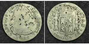 8 Real 秘鲁 銀 卡洛斯三世 (西班牙) (1716 -1788)