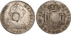 8 Real 西班牙帝國 銀 卡洛斯四世 (1748-1819)