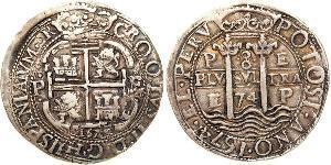 8 Real Bolivie / Vice-royauté du Pérou (1542 - 1824) Argent Charles II d