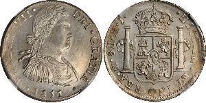 8 Real Nouvelle-Espagne (1519 - 1821) Argent Ferdinand VII d