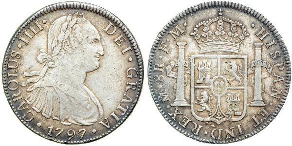 8 Real Nouvelle-Espagne (1519 - 1821) Argent Charles IV d