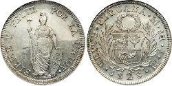 8 Real Pérou Argent