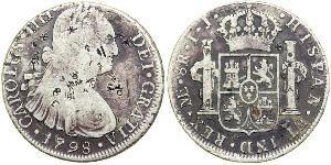 8 Real Pérou Argent Charles IV d