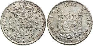8 Real Bolivia / Vicereame del Perù (1542 - 1824) Argento Carlo III di Spagna (1716 -1788)