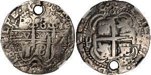 8 Real Bolivia / Vicereame del Perù (1542 - 1824) Argento Carlo II di Spagna (1661-1700)