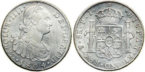 8 Real Bolivia / Vicereame del Río de la Plata (1776 - 1814) Argento Carlo IV di Spagna (1748-1819)