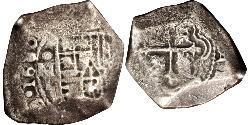 8 Real Messico Argento Carlo II di Spagna (1661-1700)