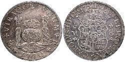 8 Real Vicereame della Nuova Spagna (1519 - 1821) Argento Carlo III di Spagna (1716 -1788)