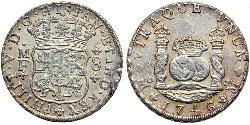 8 Real Vicereame della Nuova Spagna (1519 - 1821) Argento Filippo V di Spagna (1683-1746)