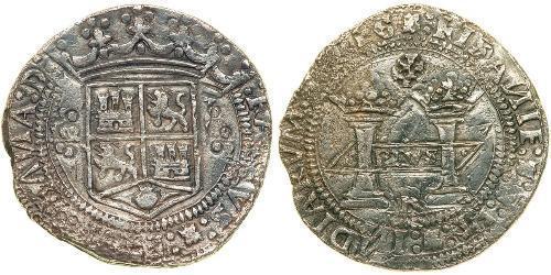 8 Real Vicereame della Nuova Spagna (1519 - 1821) Argento Carlo V del Sacro Romano Impero (1500-1558)