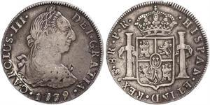 8 Real Bolivia Plata Carlos III de España (1716 -1788)