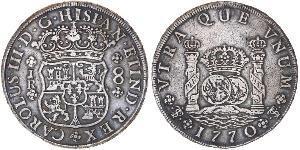 8 Real Bolivia / Virreinato del Perú (1542 - 1824) Plata Carlos III de España (1716 -1788)