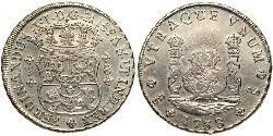 8 Real Chile Plata Fernando VI de España (1713-1759)