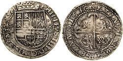 8 Real España / Bolivia / Virreinato del Perú (1542 - 1824) Plata Felipe IV de España (1605 -1665)