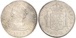 8 Real Perú Plata Carlos III de España (1716 -1788)