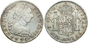 8 Real Bolivien Silber Karl III. von Spanien (1716 -1788)