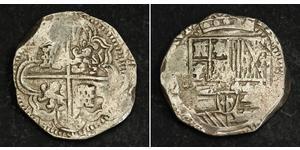 8 Real Bolivien Silber Philip IV. von Spanien (1605 -1665) / Philipp III. von Spanien (1578-1621)