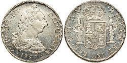 8 Real Chile Silber Karl III. von Spanien (1716 -1788)