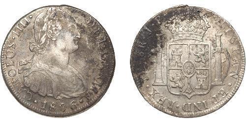 8 Real Peru Silber Karl IV (1748-1819)