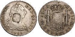 8 Real Spanisches Kolonialreich (1700 - 1808) Silber Karl IV (1748-1819)
