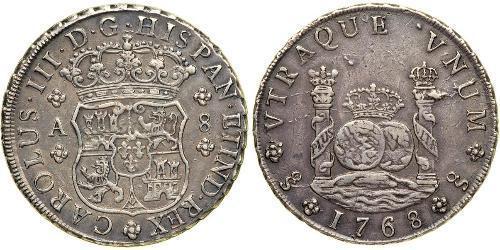 8 Real Spanisches Kolonialreich (1700 - 1808) Silber Karl III. von Spanien (1716 -1788)