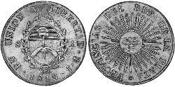 8 Real Vereinigte Provinzen des Río de la Plata (1810 -1831) Silber