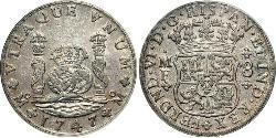 8 Real Vizekönigreich Neuspanien (1519 - 1821) Silber Ferdinand VI. von Spanien (1713-1759)
