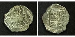 8 Real Vizekönigreich Neuspanien (1519 - 1821) Silber