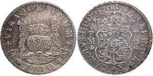 8 Real Vizekönigreich Neuspanien (1519 - 1821) Silber Karl III. von Spanien (1716 -1788)