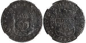 8 Real Vizekönigreich Neuspanien (1519 - 1821) Silber Philip V von Spanien (1683-1746)