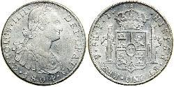 8 Real Vizekönigreich des Río de la Plata (1776 - 1814) / Bolivien Silber Karl IV (1748-1819)