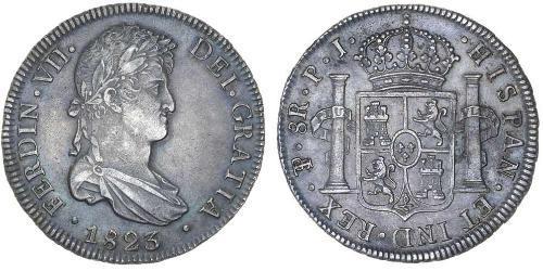 8 Real Vizekönigreich des Río de la Plata (1776 - 1814) / Bolivien Silber Ferdinand VII. von Spanien (1784-1833)