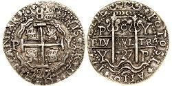 8 Real Bolivia / Viceroyalty of Peru (1542 - 1824) Silver