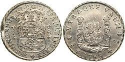 8 Real Chile Silver Ferdinand VI of Spain (1713-1759)