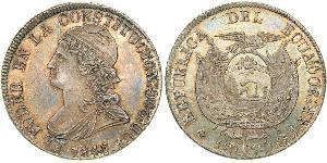 8 Real Ecuador Silver