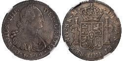 8 Real Guatemala Silver Charles IV of Spain (1748-1819)