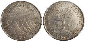 8 Real Guatemala / Federal Republic of Central America (1823 - 1838) Silver