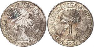 8 Real Guatemala / Federal Republic of Central America (1823 - 1838) Silver