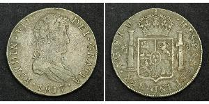 8 Real Guatemala / Spanish Colonies Silver Ferdinand VII of Spain (1784-1833)