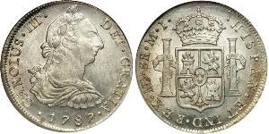 8 Real Peru Silver Charles III of Spain (1716 -1788)