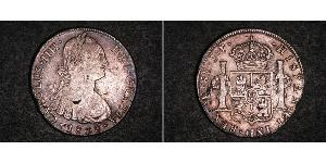 8 Real Peru Silver Charles IV of Spain (1748-1819)