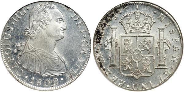 8 Real Peru Silver Charles IV of Spain (1748-1819)