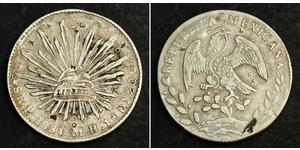 8 Real Second Federal Republic of Mexico (1846 - 1863) Silver