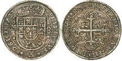 8 Real Spanish Mexico  / Kingdom of New Spain (1519 - 1821) Silver Philip V of Spain(1683-1746)