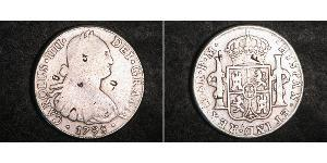 8 Real Spanish Mexico  / Kingdom of New Spain (1519 - 1821) Silver Charles IV of Spain (1748-1819)