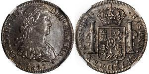 8 Real Spanish Mexico  / Kingdom of New Spain (1519 - 1821) Silver Ferdinand VII of Spain (1784-1833)